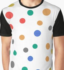 Different Colorful Pills Isolated on White Background. Seamless Medical Pattern Graphic T-Shirt