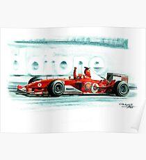 Ferrari F2003-GA Michael Schumacher Poster