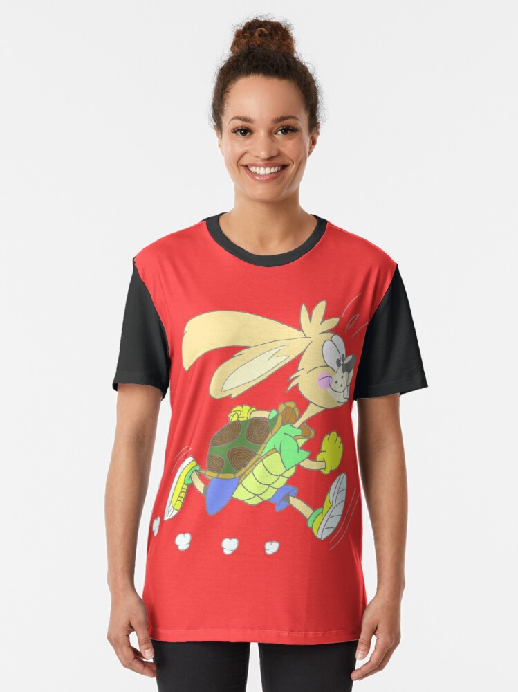 Alternate view of Hare or tortoise Graphic T-Shirt