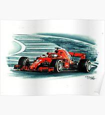 Ferrari SF71-H Sebastian Vettel Poster