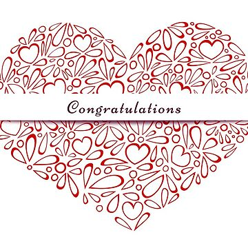 """""""Congratulations"""" in a red heart by MaijaR"""
