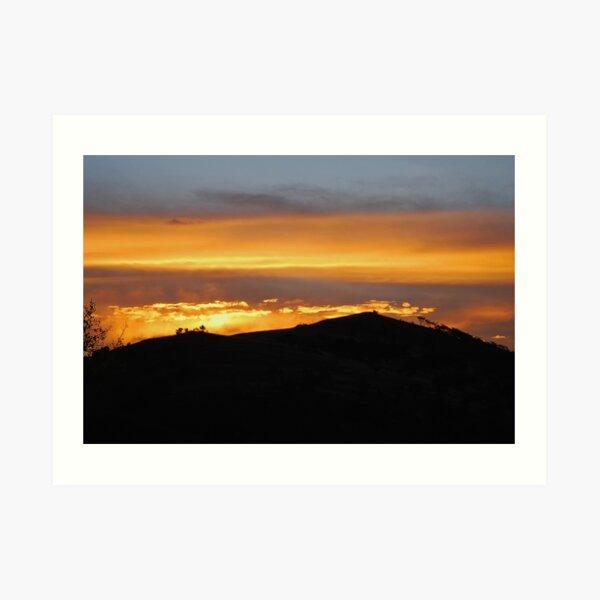 Sunset in Magaliesburg Art Print