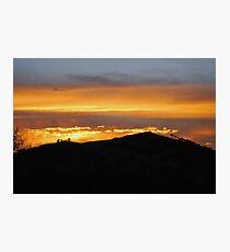 Sunset in Magaliesburg Photographic Print