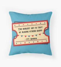 P.T. Barnum - The Greatest Showman Throw Pillow