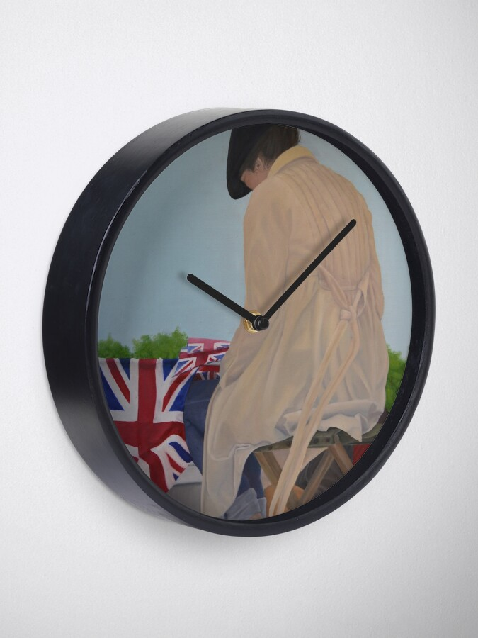Alternate view of WAITING FOR THE QUEEN Clock