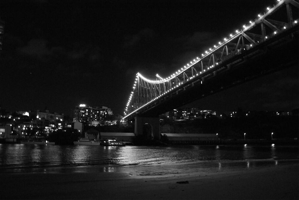 storey bridge @ night by ncmattson