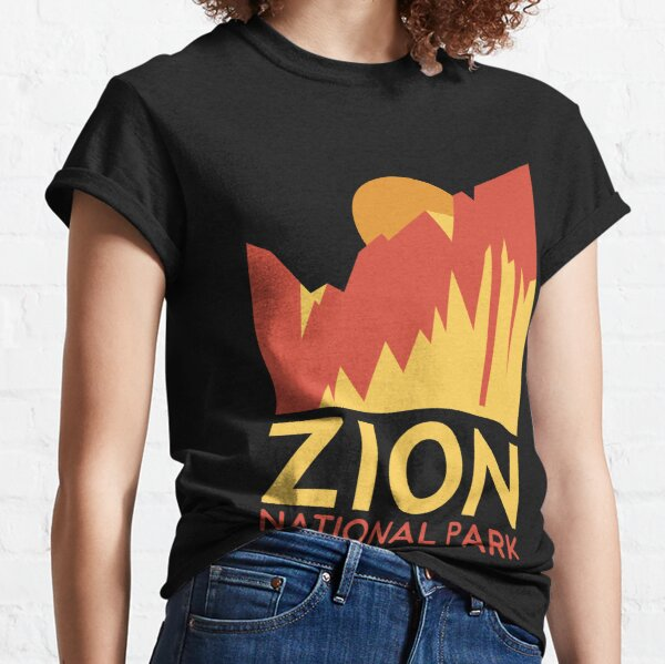 Zion National Park T-Shirt -Outdoor Camping Hiking Tee Shirt Classic T-Shirt