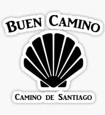 Buen Camino - Camino de Santiago Scallop Shell Glossy Sticker