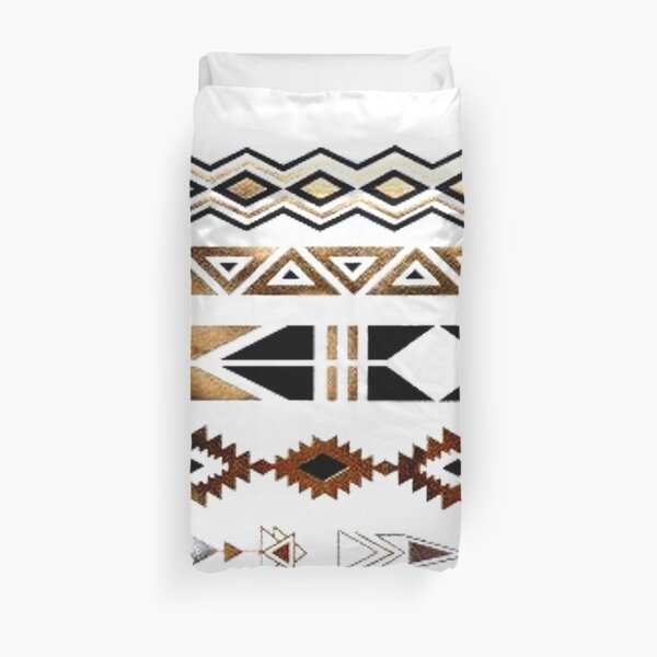 Tribal Aztec Gold and Black Design Duvet Cover