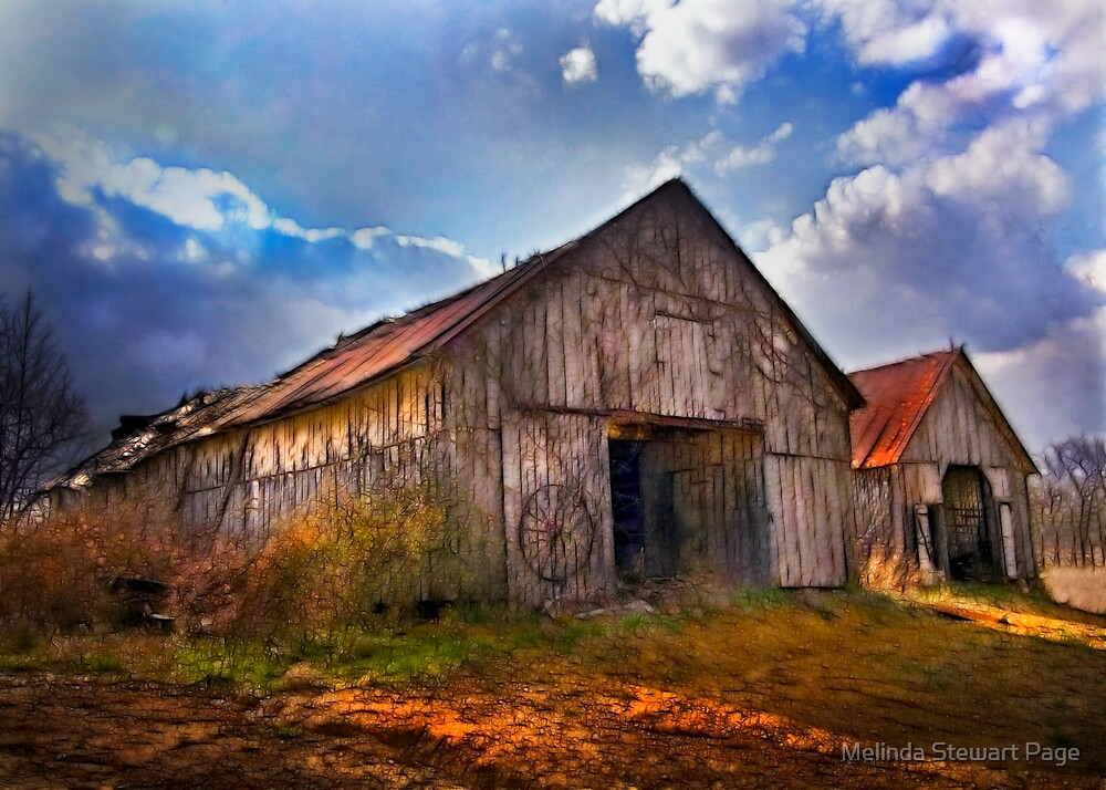 Quot Quot Old Barns With Storm Rolling In Quot Quot By Melinda Stewart