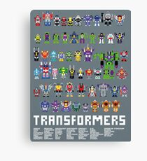 1985 pixel transformers poster Canvas Print