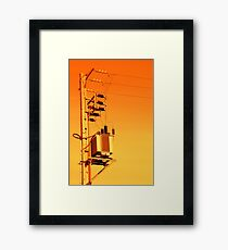 Electricity distribution equipment Framed Print