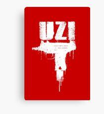 UZI -text- Canvas Print