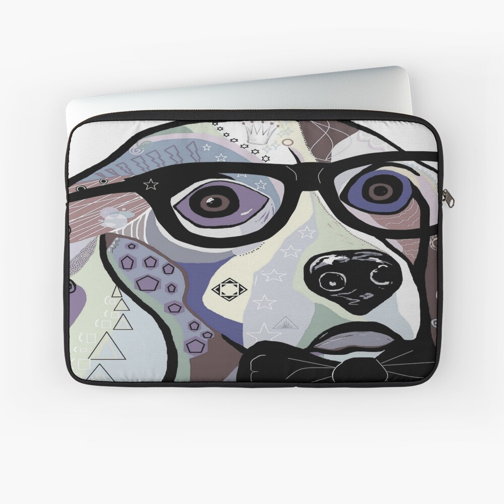 Sophisticated Beagle Denim Laptop Sleeve