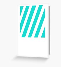 Blue and White Simplistic Stripes Design  Greeting Card