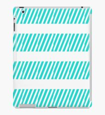 Blue and White Simplistic Stripes Design  iPad Case/Skin
