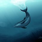 """""""Siren of the Blue Lagoon"""" by Amber Marine ~ dolphin painting, art © 2015 by Amber Marine ~ Wildlife Artist ~ © 2004-2019"""