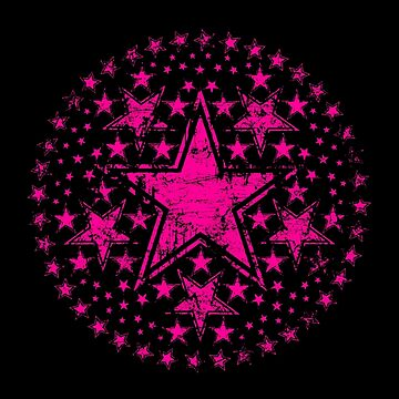 Hot Pink Stars by RevolutionGFX