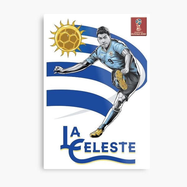 2018 World Cup Soccer Russia | TEAM URUGUAY Metal Print