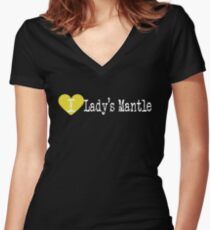 I Heart Lady's Mantle | Love Lady's Mantle Women's Fitted V-Neck T-Shirt