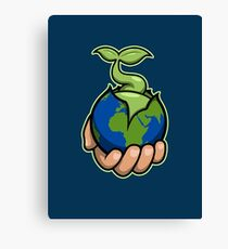 The world is in your hands Canvas Print
