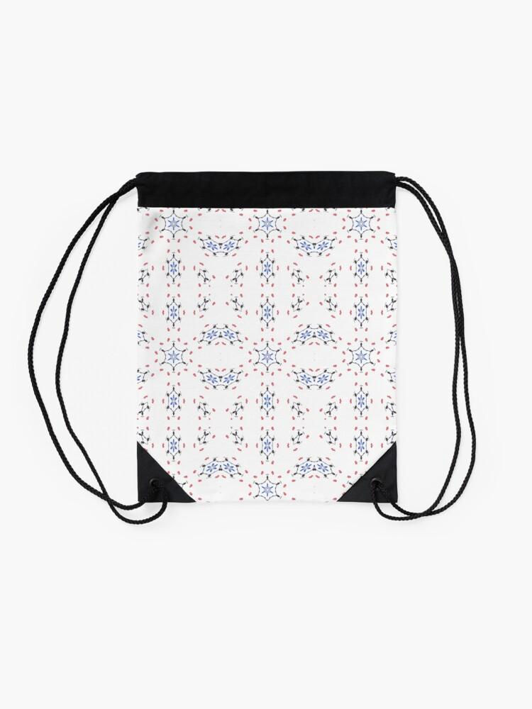 Alternate view of pattern, design, tracery, weave, decoration, motif, marking, ornament, ornamentation, #pattern, #design, #tracery, #weave, #decoration, #motif, #marking, #ornament, #ornamentation Drawstring Bag