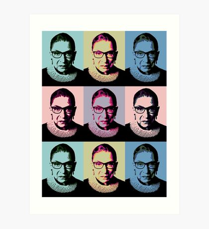 Notorious RBG - in muted colors Art Print