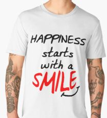 Happiness starts with a smile Men's Premium T-Shirt