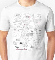 Die Karte der Manuskript-Erde Slim Fit T-Shirt