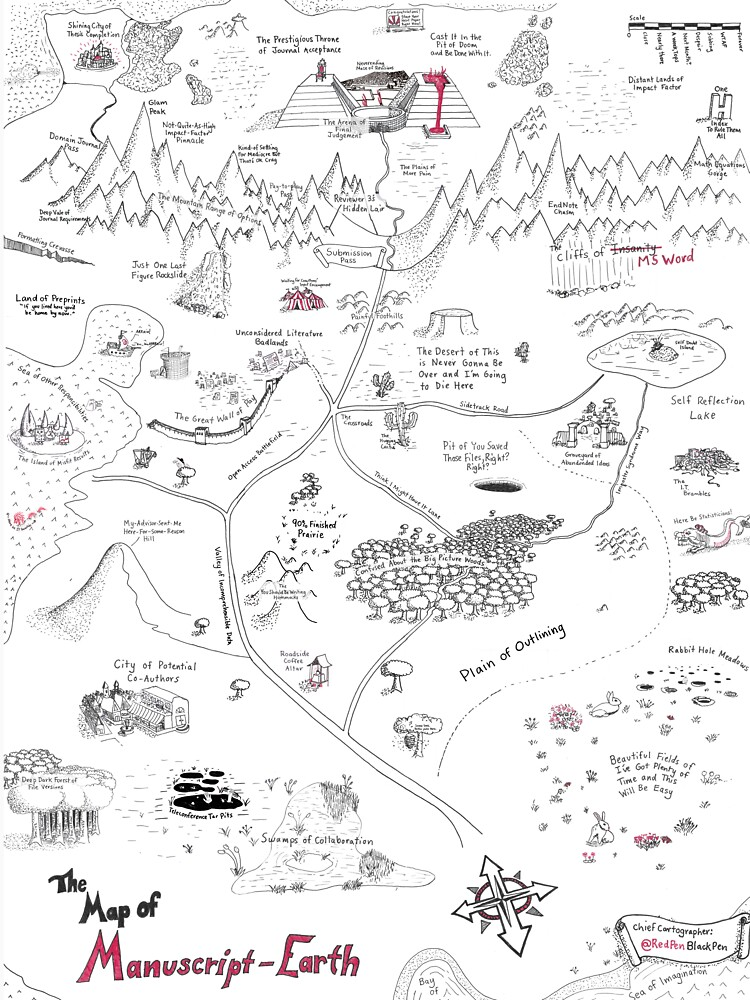 The Map of Manuscript Earth by redpenblackpen