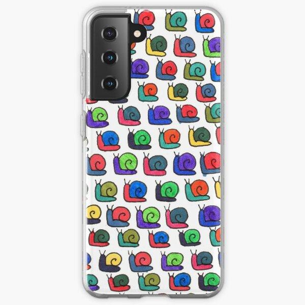 Multicolor Snail Pattern Samsung Galaxy Soft Case