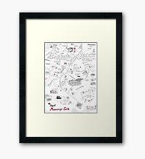 Die Karte der Manuskript-Erde Gerahmtes Wandbild