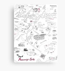 The Map of Manuscript Earth Metal Print