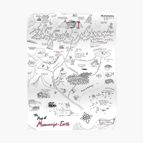 The Map of Manuscript Earth Poster