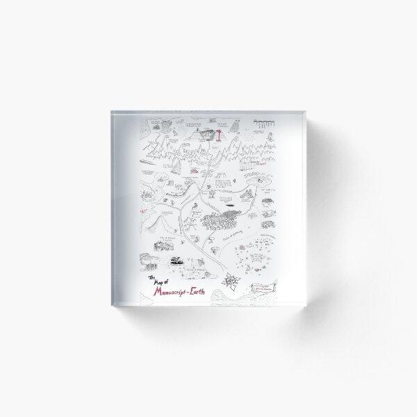 The Map of Manuscript Earth Acrylic Block