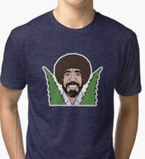Bob Ross Happy Little Trees Tri-blend T-Shirt