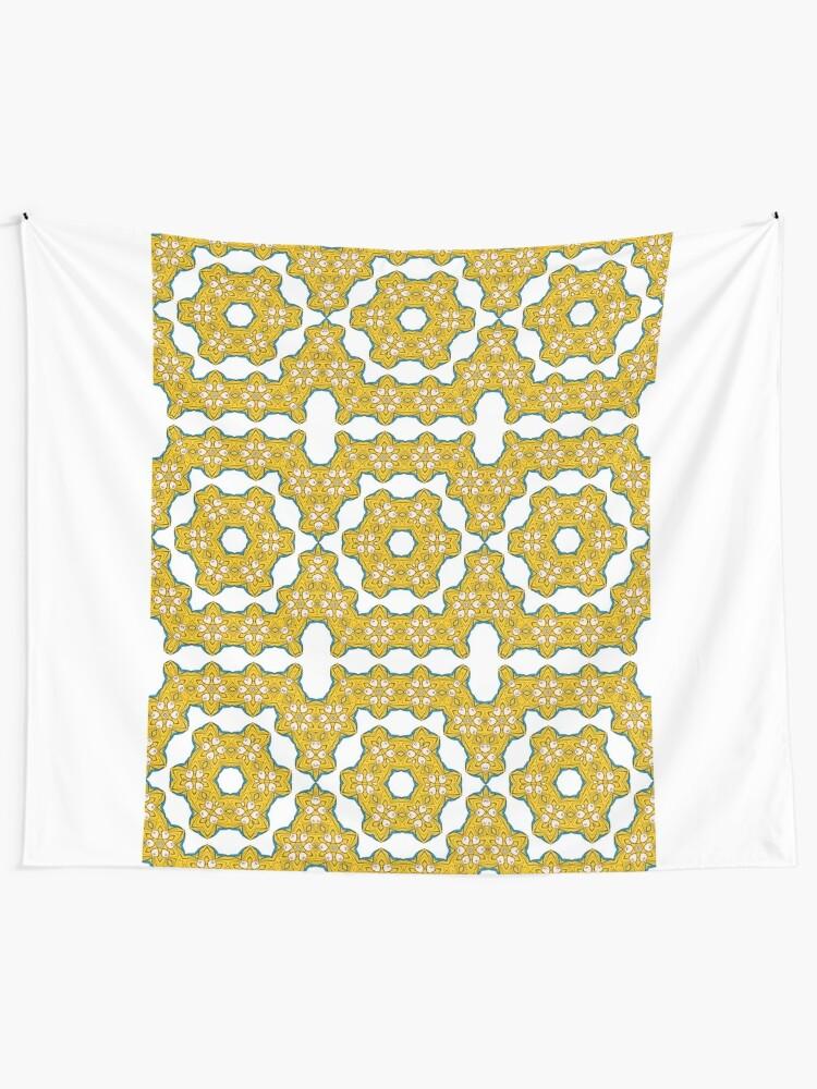 Alternate view of pattern, design, tracery, weave, decoration, motif, marking, ornament, ornamentation, #pattern, #design, #tracery, #weave, #decoration, #motif, #marking, #ornament, #ornamentation Tapestry