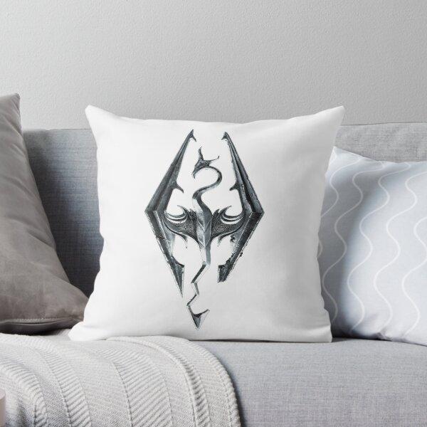 Skyrim Logo Throw Pillow