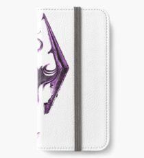 Purple Skyrim Logo iPhone Wallet/Case/Skin