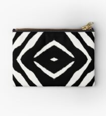 Black Ink Medallion by Margaret Juul Studio Pouch