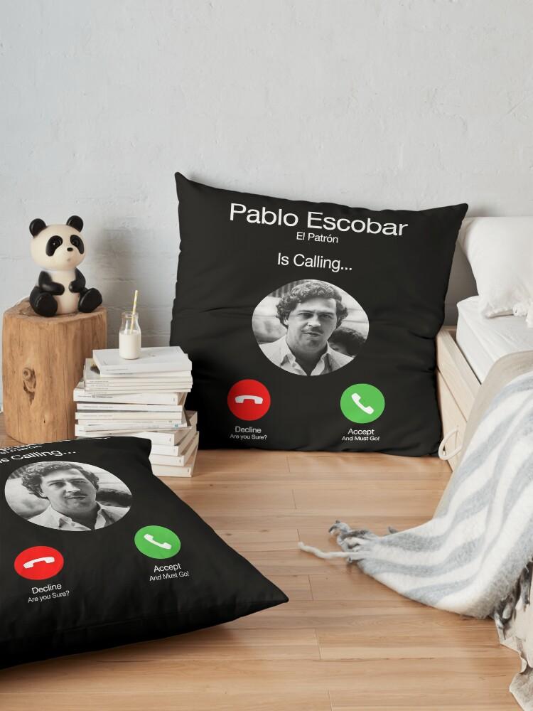 Alternate view of Pablo Escobar Calling Floor Pillow