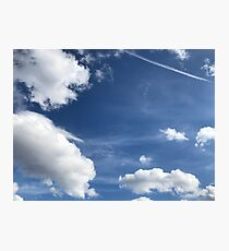 Blue Sky, Puffy Clouds Photographic Print
