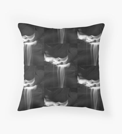 Flowing Sand in Antelope Canyon ~ Black & White Floor Pillow