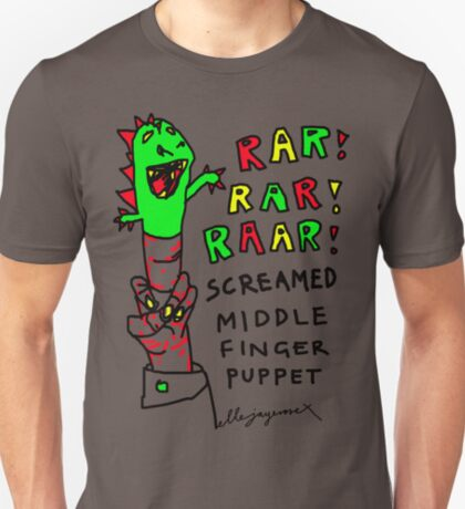 """Middle Finger Puppet"" T-Shirt"