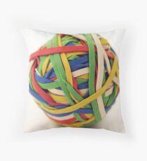 Rubber band ball Throw Pillow