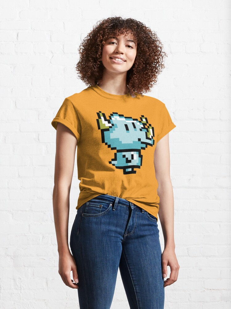 Alternate view of 8-Bit Doug the Dinosaur Classic T-Shirt
