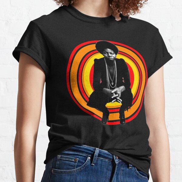 Retro Nina Simone Camiseta clásica