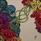Tendrils Zentangle 311 by CCWillow