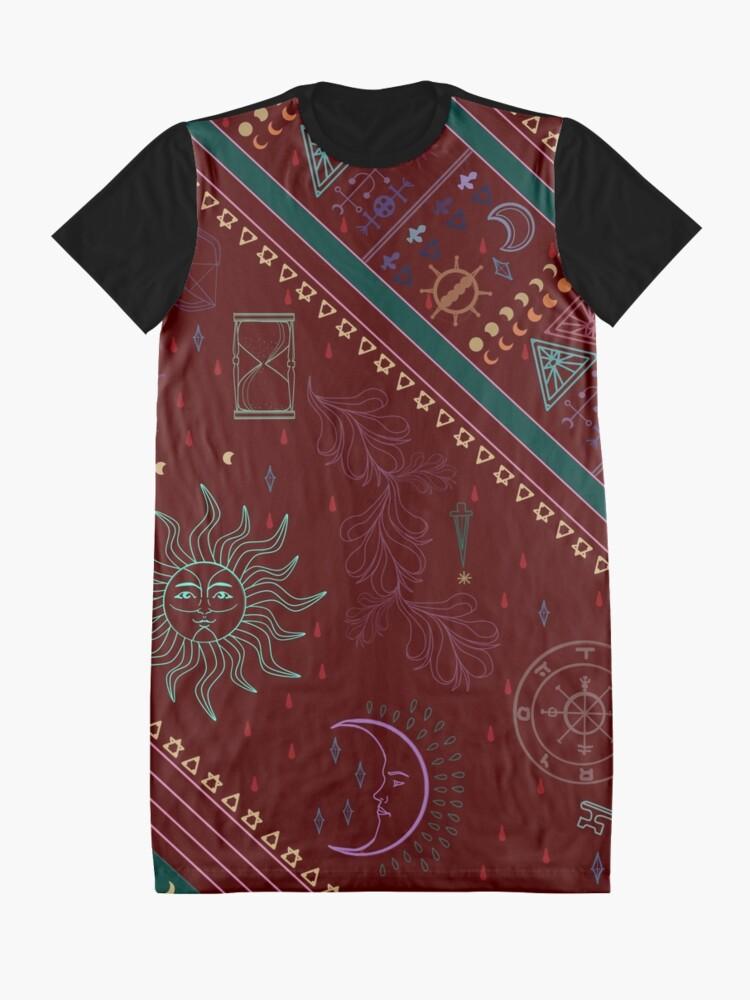 Alternate view of pyramid Graphic T-Shirt Dress