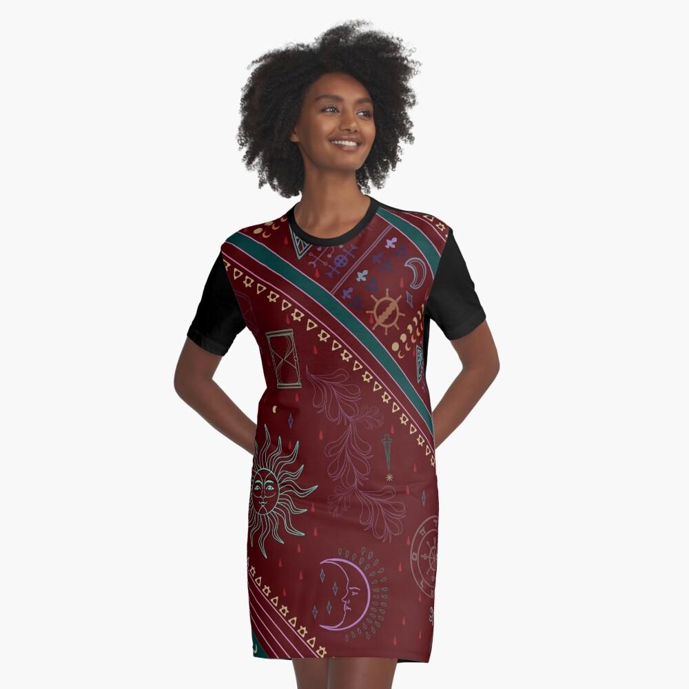 pyramid Graphic T-Shirt Dress
